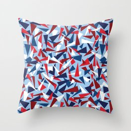 Break the Glass Ceiling! Red White & Blue Throw Pillow
