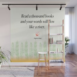 Virginia Woolf Book Quote Wall Mural