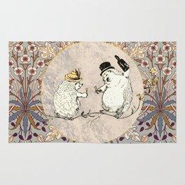 The Hedgehog Party Hyacinth Pattern Rug