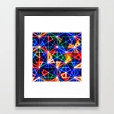 Flux Capacitor Geometric Art Print. Framed Art Print