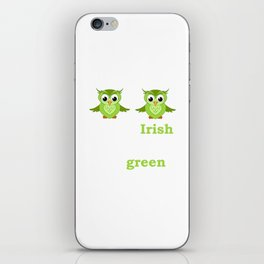 So Irish My Hooters Are Green Raunchy St. Paddy's T-Shirt iPhone Skin