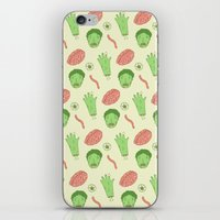 zombie iPhone & iPod Skins featuring Zombie by Paula García