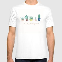 Indoor plants and quote T-shirt