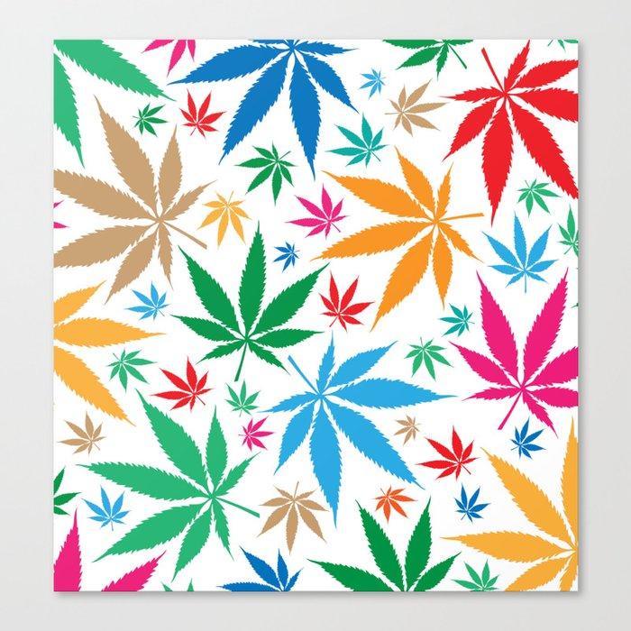 marijuana leaf color pattern Leinwanddruck