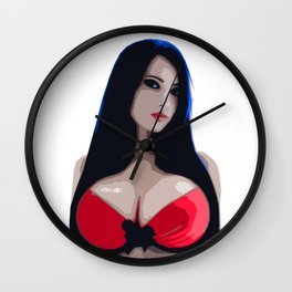 Girl in Red SS Wall Clock