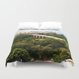 Green Santander. Duvet Cover