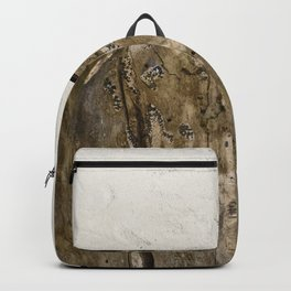 Cream Cement and Gnarled Wood Patterns Backpack