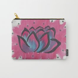 Watercolor Lotus Carry-All Pouch