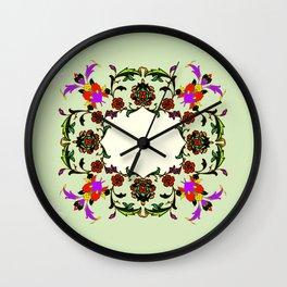 light green medalion Wall Clock