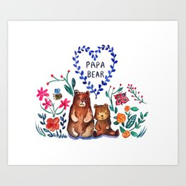 Father's Day Papa Bear Art Print