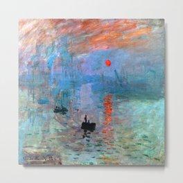Claude Monet Impression Sunrise Metal Print