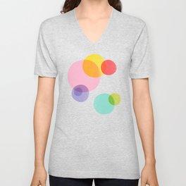 Rainbow Bubbles Unisex V-Neck