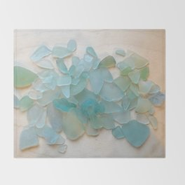 Ocean Hue Sea Glass Throw Blanket