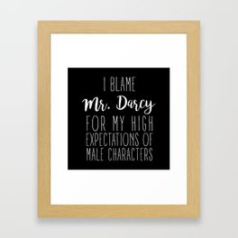 High Expectantions - Darcy Black Framed Art Print