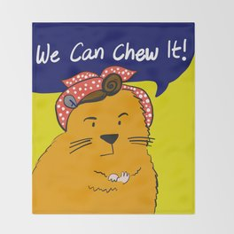 We can chew it! Throw Blanket