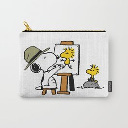 snoopy woodstok paint Carry-All Pouch