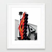 sin city Framed Art Prints featuring Sin City by Mark Vierthaler