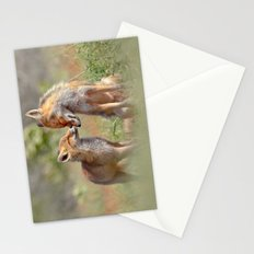 Fox Felicity - Mother and fox kit showing love and affection Stationery Cards