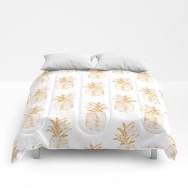 Orange Pineapple Comforters