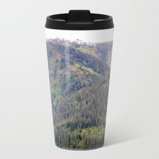 Forest and Mountains Metal Travel Mug