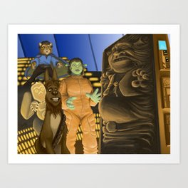 The Empire Shreks Back Art Print