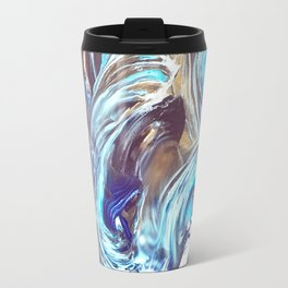 Abstract Pattern / Space Abstract / Space Pattern / Blue and Gold Travel Mug