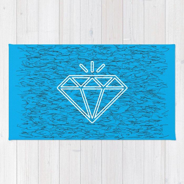 diamond cyan Rug