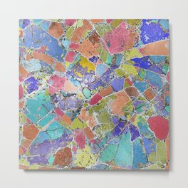 Abstract Stone Multi-coloured Design 705 Metal Print