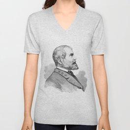 Robert E Lee Portrait Illustration Unisex V-Neck