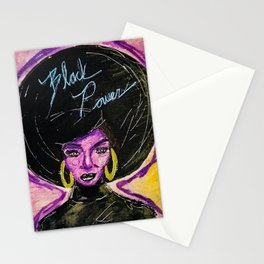 Black Power Neon Stationery Cards