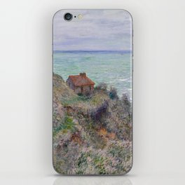Monet - Cabin of the Customs Watch, 1882 iPhone Skin