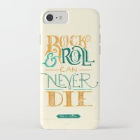neil young iPhone & iPod Cases featuring Rock & Roll Can Never Die - Neil Young by courtneyblair