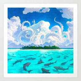 Dangerous Waters Art Print