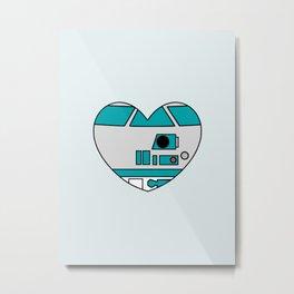 R2D2 Valentine Metal Print