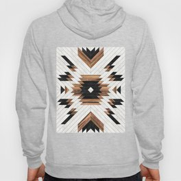 Urban Tribal Pattern No.5 - Aztec - Concrete and Wood Hoody