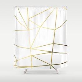 Gold Metallic Nodes Shower Curtain