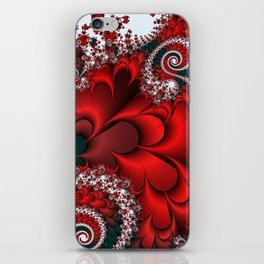 Red Sweetheart Fractal iPhone Skin