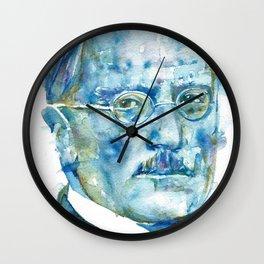 CARL JUNG - watercolor portrait Wall Clock