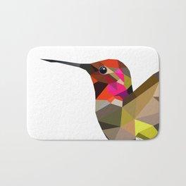 Pink hummingbird portrait Bath Mat