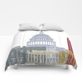 Washington DC skyline poster Comforters