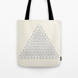 Lichtenberg-Mayer Colour Triangle with letters and numbers, Remake of Mayer's original illustration Tote Bag