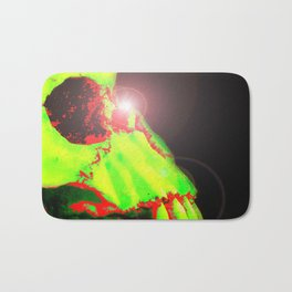 Neon Skull Bath Mat