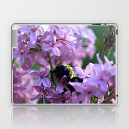 Busy Bee in Lilac Art Photography Laptop & iPad Skin