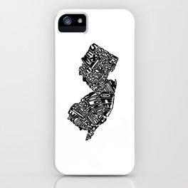 Typographic New Jersey iPhone Case