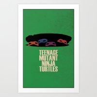 ninja turtles Art Prints featuring Ninja Turtles  by PrintWolf