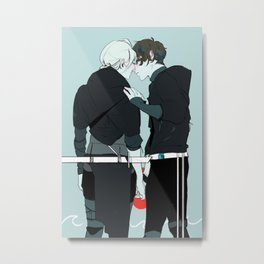 Kiss and Hold Hands Metal Print