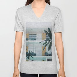 Retro Motel in Wildwood, New Jersey Unisex V-Neck