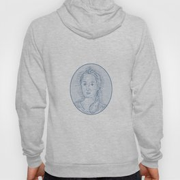 18th Century Russian Empress Bust Oval Drawing Hoody