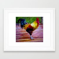 rooster Framed Art Prints featuring Rooster by Phil Flaig