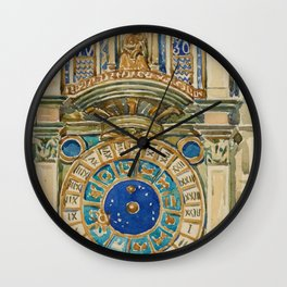 Clock Tower, Saint Marks Square, Venice - Digital Remastered Edition Wall Clock